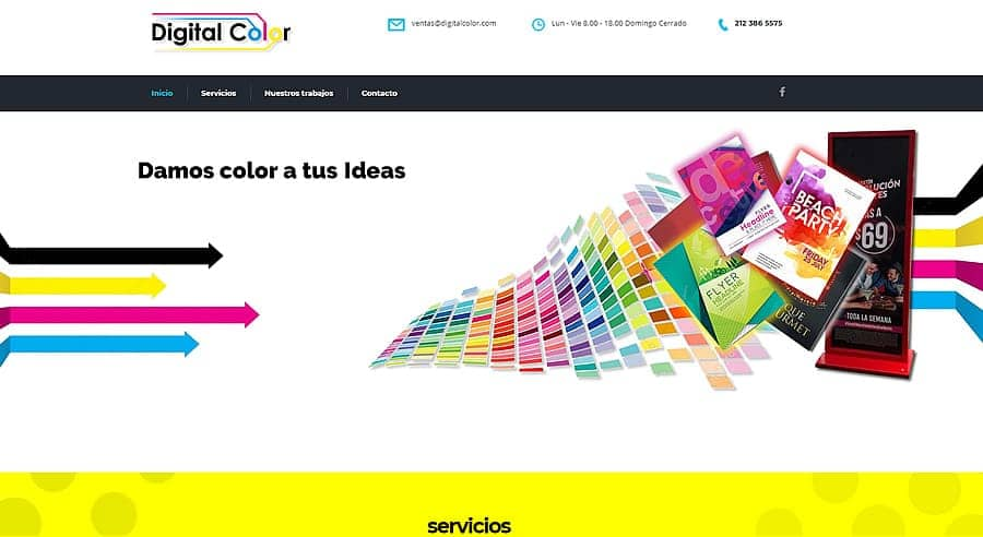 DigitalColor - Diseño web